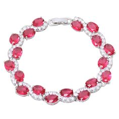 Find More Charm Bracelets Information about Luxury Sparkling Wholesale Best Quality 18K white gold plated Bracelets & bangles Ruby & White Topaz fashion jewelry B203,High Quality jewelry wig,China jewelry soap Suppliers, Cheap jewelry findings sterling silver from Dana Jewelry Co., Ltd. on Aliexpress.com