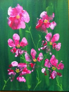 Flowers painted from dog paws