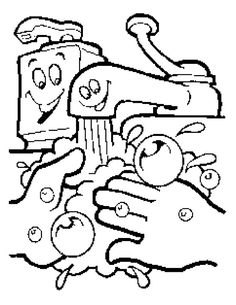 This Is Free Coloring Pages Of Handwashing And Germs You With Healthy Kids