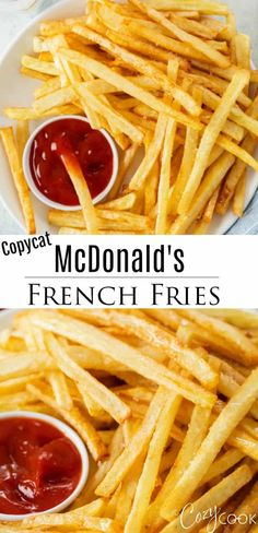 4 Points About Vintage And Standard Elizabethan Cooking Recipes! This Copycat Mcdonald's French Fry Recipe Has The Secret Steps You Need To Replicate The Classic Restaurant Version. These Homemade Fries Make The Best Side Dish And Appetizer Idea Mcdonalds Recipes, Mcdonalds French Fries Recipe, Best Side Dishes, Side Dish Recipes, Dinner Recipes, Cocktail Recipes, Mcdonald French Fries, Homemade Fries, Cooking