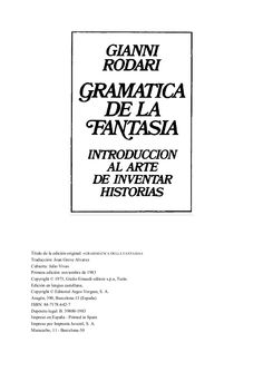 gianni-rodari-gramtica-de-la-fantasa-introduccin-al-arte-de-inventar-historias by xiispa via Slideshare Spanish Lesson Plans, Spanish Lessons, Montessori Activities, Copywriting, Alter, Letter Board, Digital Marketing, Literature, Language