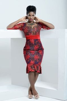 kitenge designs Specially for Valentines Day Nigerian Design Label Trish O. Couture presents Rouge Romance African Inspired Fashion, African Print Fashion, Africa Fashion, African Wear, African Women, African Dress, African Outfits, African Clothes, Latest African Styles