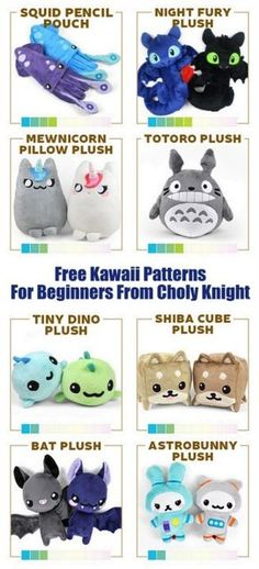 DIY Kawaii Free Patterns for BeginnersFor more Kawaii DIYs on. DIY Kawaii Free Patterns for BeginnersFor more Kawaii DIYs on. Always aspired to discover how to knit, although not su. Baby Knitting Patterns, Plushie Patterns, Animal Sewing Patterns, Sewing Patterns Free, Free Pattern, Knitting Toys, Crochet Patterns, Sewing Stuffed Animals, Stuffed Animal Patterns