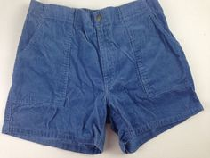 """Mens Towncraft  Corduroy Board Shorts Sz 36-40 OP STYLE Blue vtg 5"""" inseam #Towncraft #CasualShorts"""