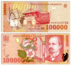 Romania 100000 Lei 1998 (N. Artist Brush, Character Art, Geek Stuff, Stamp, World, Seals, Money, Report Cards, Stop It