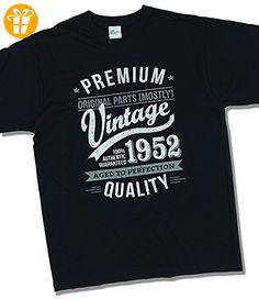 1952 Vintage Year - Aged To Perfection - 65. Geburtstag geschenk T-Shirt fr Herren Schwarz 2XL (*Partner-Link)