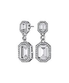 f59dd64e6 Lauxes Silvertone Jubilee Drop Earrings Made with SWAROVSKI ELEMENTS