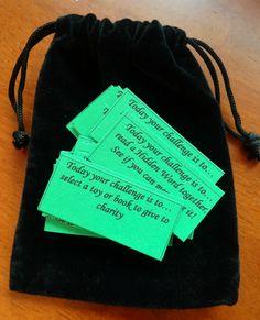 Family Challenge Bags - Perfect for the Baha'i Fast, Lent, Ramadan - Alldonemonkey.com
