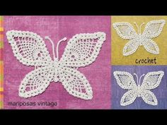 Mariposa tejida a crochet - Tejiendo Perú - YouTube