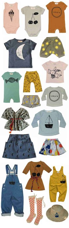 Cute collection of baby clothes