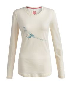 Joules null Womens Jersey Top, Creme.                     A fan of all things equestrian or looking for a horse to give your look the giddy up? Then the search is over. In the finest cotton for extra comfort.