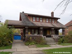 Walter J. Steyskal House, 1247 W. Grand Blvd., Detroit, MI. Another house with a porte cochiere.