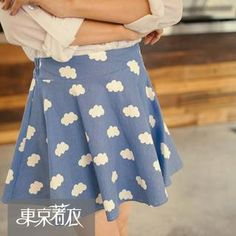 Buy 'Tokyo Fashion – Cloud-Print A-Line Skirt' with Free International Shipping at YesStyle.com. Browse and shop for thousands of Asian fashion items from Taiwan and more!