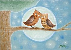 'Owl Love' by Marnie Vollenhals