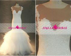 RW137 Robe de mariée perlée avec cristal et perles robe de bal robe de mariée gonflés dentelle robe de mariée Long hiérarchisé robe de mariée avec perles