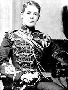 Portrait of Subaltern Winston Churchill of the UK 4th Hussars, Feb 1895