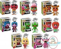 Funko Pop Muppets ( Animal, Dr. Teeth, Fozzie Bear, Gonzo, Kermit, Mahna Mahna, Miss Piggy, 2 Snowths)