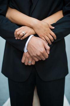 ring shot idea (hands in hands) - Chicago Wedding from Invitations by Ajalon + Melissa Diep Photography::