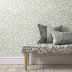 Edgar wallpaper-light green- Edgar tapet-ljusgrön Edgar wallpaper from Sandberg Wallpaper Wallpaper Stencil, Home Wallpaper, Sandberg Wallpaper, Dining Room Wallpaper, Hand Painted Walls, Fireplace Wall, Modern Country, Country Style, Wall Treatments