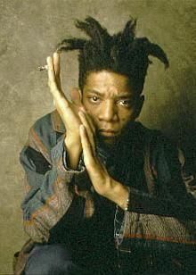 "Jean-Michel Basquiat. ""I am not a black artist, I am an artist."" . . . ""I don't think about art when I'm working. I try to think about life."""