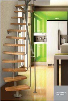 De trap zen van fontanot valt onder de ruimte besparende trappen door zijn uniek gevormde - Ruimtebesparende mezzanine ...