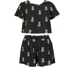 Juicy Fruit Two Piece Set (185 BRL) ❤ liked on Polyvore featuring playsuits, two piece, tops and dresses