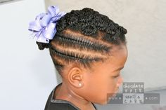 Side Flat Rope Twists with Pinned Buns | Chocolate Hair / Vanilla Care