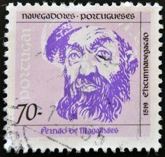 PORTUGAL - CIRCA 1993: A stamp printed in Portugal shows Ferdinand Magellan, circa 1993  Stock Photo