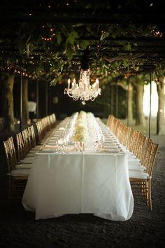 Fabulous al fresco wedding.# long wedding tables # entertaining # outdoor entertaining