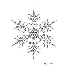 Intricate snowflake design