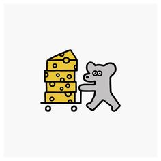 55 ideas for cheese cartoon art character design Funny Illustration, Character Illustration, Graphic Design Illustration, Cheese Cartoon, Cheese Drawing, Little Doodles, Mascot Design, Funny Drawings, Hamsters