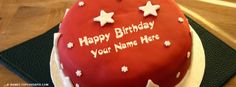 Your name is beautiful like you❤. Write your name on  facebook covers and make it awesome. You will love these  Cool Birthday Cake name cover