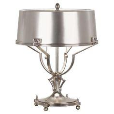 Two Light Silver Table Lamp : 278WJ | Bright Light Design Center