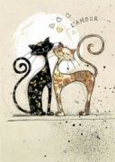Two Lovecats - Bug Art greeting card - Cats - Chat Bug Art, Photo Chat, Cat Cards, Greeting Cards, Cat Drawing, Cat Love, Crazy Cats, Cool Cats, Cats And Kittens