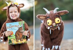 100 Easy Ideas for Book Week Costumes. Tearing your hair out thinking about what to dress your child in for Book Week? Here are 100 Easy Ideas for Book Week Costumes Book Costumes, World Book Day Costumes, Book Character Costumes, Book Week Costume, Cute Costumes, Gruffalo Costume, Gruffalo Party, The Gruffalo, Toddler Halloween Costumes