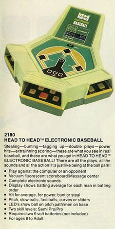 Coleco Head-to-Head Baseball