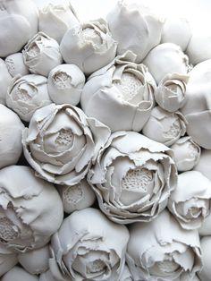 Peony Clay Wall Sculpture Tile home decor handmade flower sculpture modern Scandinavian design dimensional wall art wedding gift Ceramic Flowers, Clay Flowers, Sculpture Clay, Wall Sculptures, Art Floral, Ceramic Pottery, Ceramic Art, 3d Home, Clay Tiles