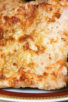 Parmesan-Crusted Pork Chops #Recipe: only 4 ingredients & done in under half an hour!
