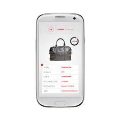 Mobile app CHERRY on the bag