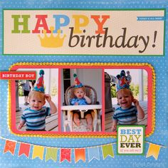 A Birthday Layout and Mini Album