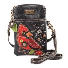 Chala Crossbody Cell Phone Purse - Women PU Leather Multicolor Handbag with Adjustable Strap - Cardinal Black Crossbody Phone Purse, Cell Phone Purse, Crossbody Bags, Waist Pouch, Pu Leather, Leather Bags, Cross Body Handbags, Purses, Colorful