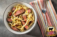 Cajun Steak Fettuccine recipe provided by the Certified Angus Beef® brand.
