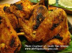 Chicken Inasal Recipe, Authentic Filipino-- This one sounds so good! Filipino Dishes, Filipino Recipes, Asian Recipes, Ethnic Recipes, Filipino Food, Meat Recipes, Chicken Recipes, Cooking Recipes, Chicken Inasal Recipe