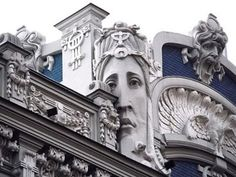 Riga Street in the famed Art Nouveau District, Latvia - designed by Mikhail Eisenstein (2nd of two pins)
