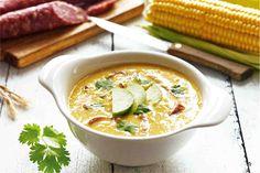 Krem z kukurydzy z kiełbasą chorizo i awokado - wypróbuj sprawdzony przepis. Odwiedź Smaczną Stronę Tesco.
