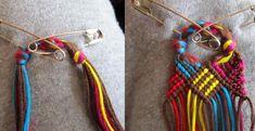 Laço inicial, padrão não simetrico  Tutorial - friendship-bracelets.net