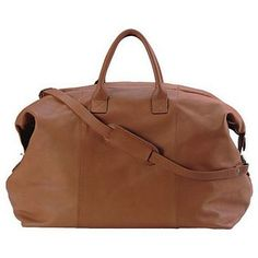 Personalized Milano Leather Duffle Bag