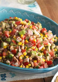 Cowboy Salsa – Check out this smart, Healthy Living way to enjoy food that could be at home on the range: a big bowl of ham, black-eyed peas, and vegetables pulled together with zesty dressing.