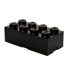 Lego Batman Storage Brick 8 Black, Multicolor