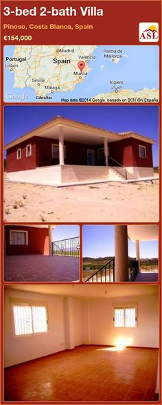 3-bed 2-bath Villa in Pinoso, Costa Blanca, Spain ►€154,000 #PropertyForSaleInSpain